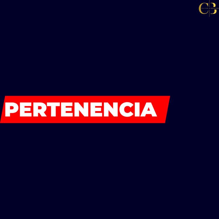 PERTENENCIA